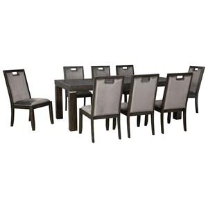 9-Piece Rectangular Dining Table Set