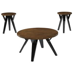 Retro-Contemporary 3-Piece Occasional Table Set
