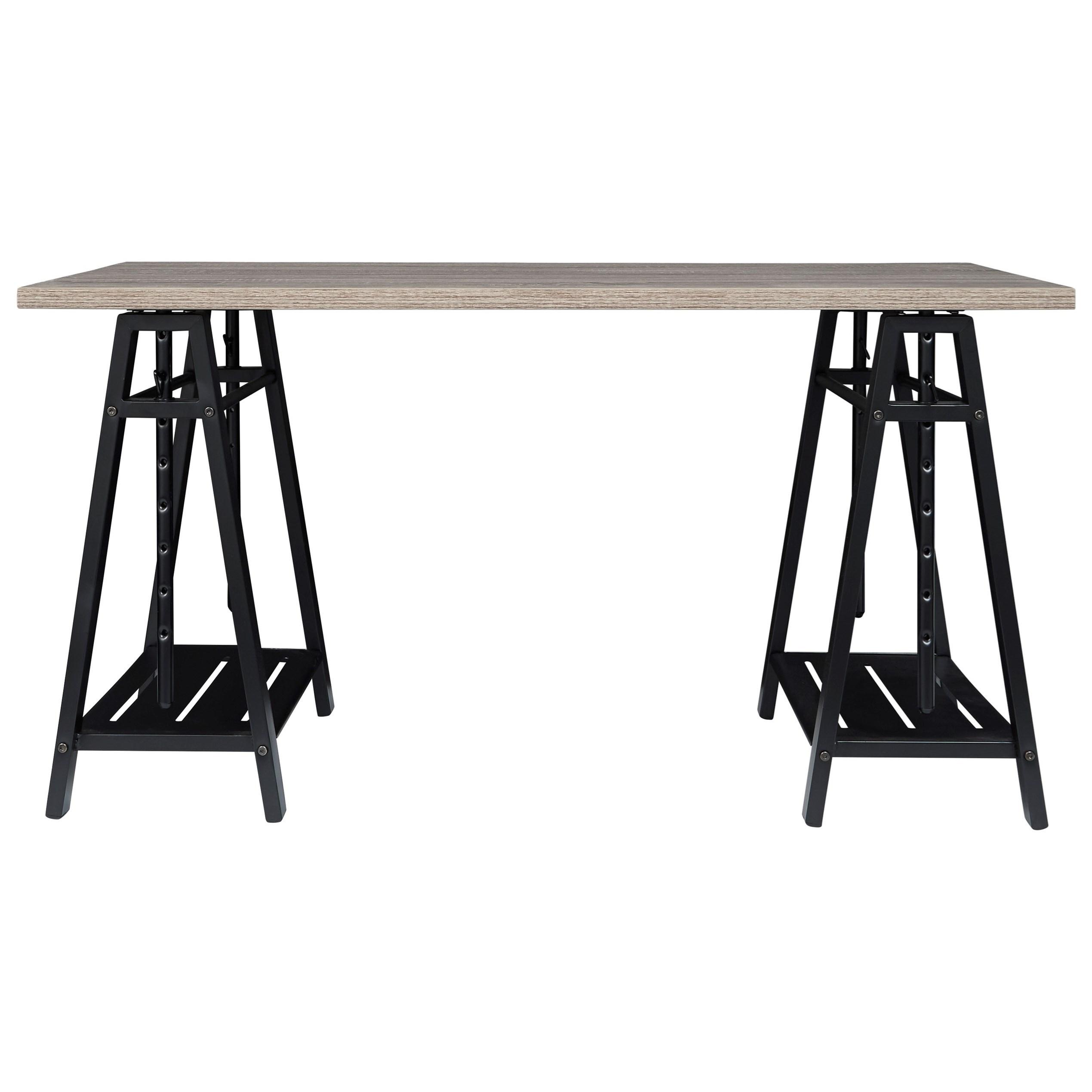 Irene Adjustable Height Desk by Ashley (Signature Design) at Johnny Janosik