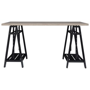 Sawhorse Style Adjustable Height Desk