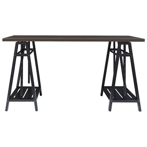 Sawhorse Style Adjustable Height Desk