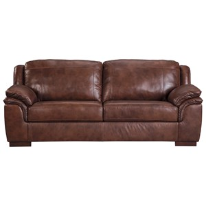 Contemporary Leather Match Sofa