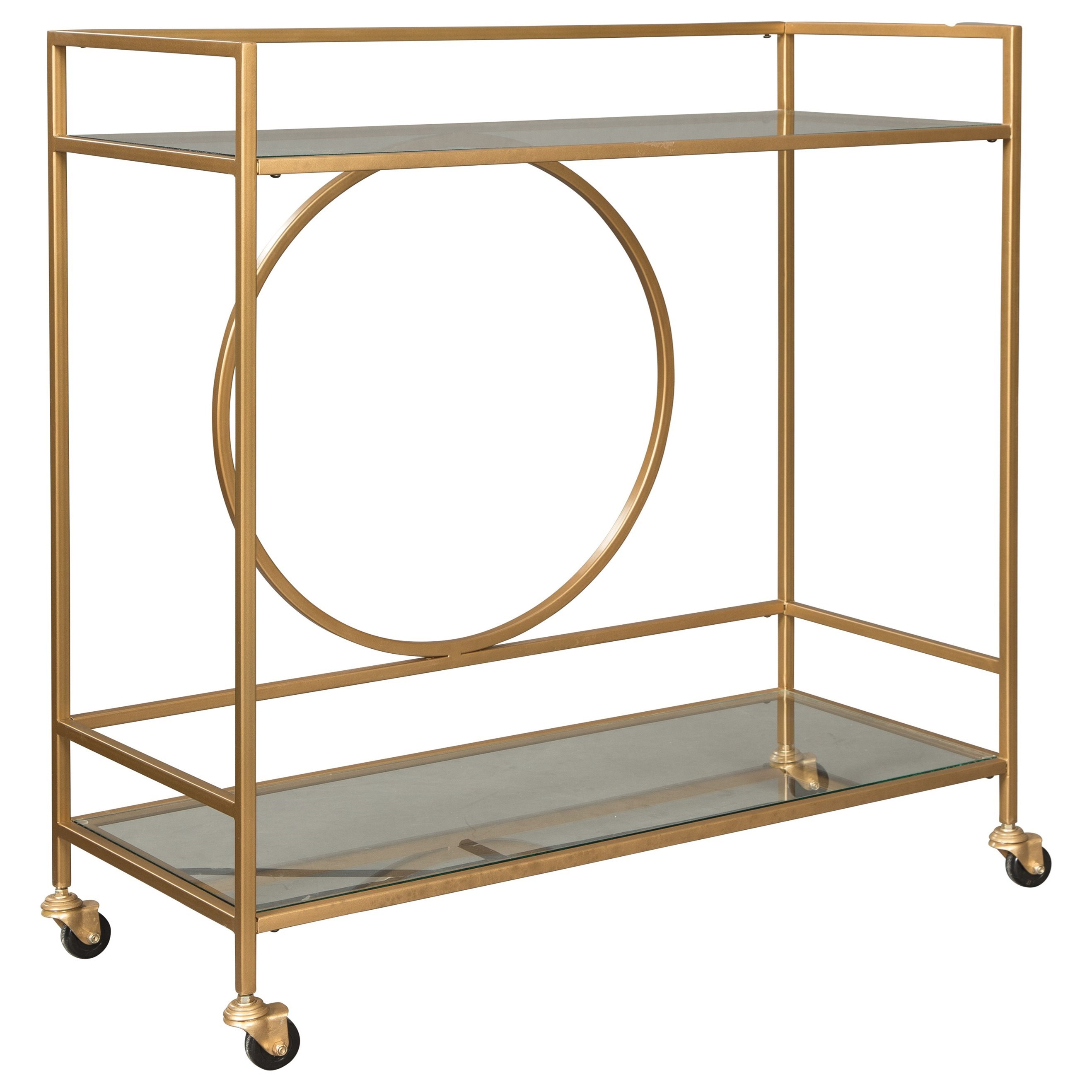 Jackford Bar Cart by Signature Design by Ashley at Northeast Factory Direct