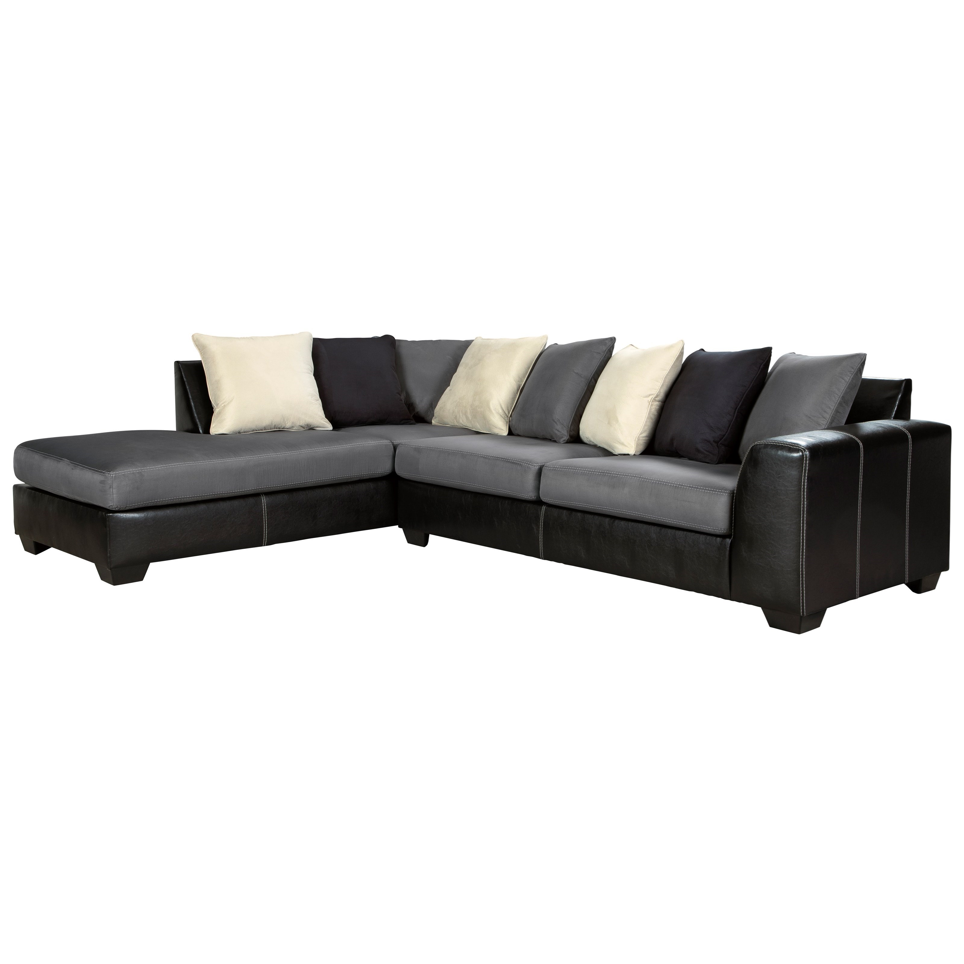 Jacurso Sectional Sofa with Chaise by Ashley (Signature Design) at Johnny Janosik