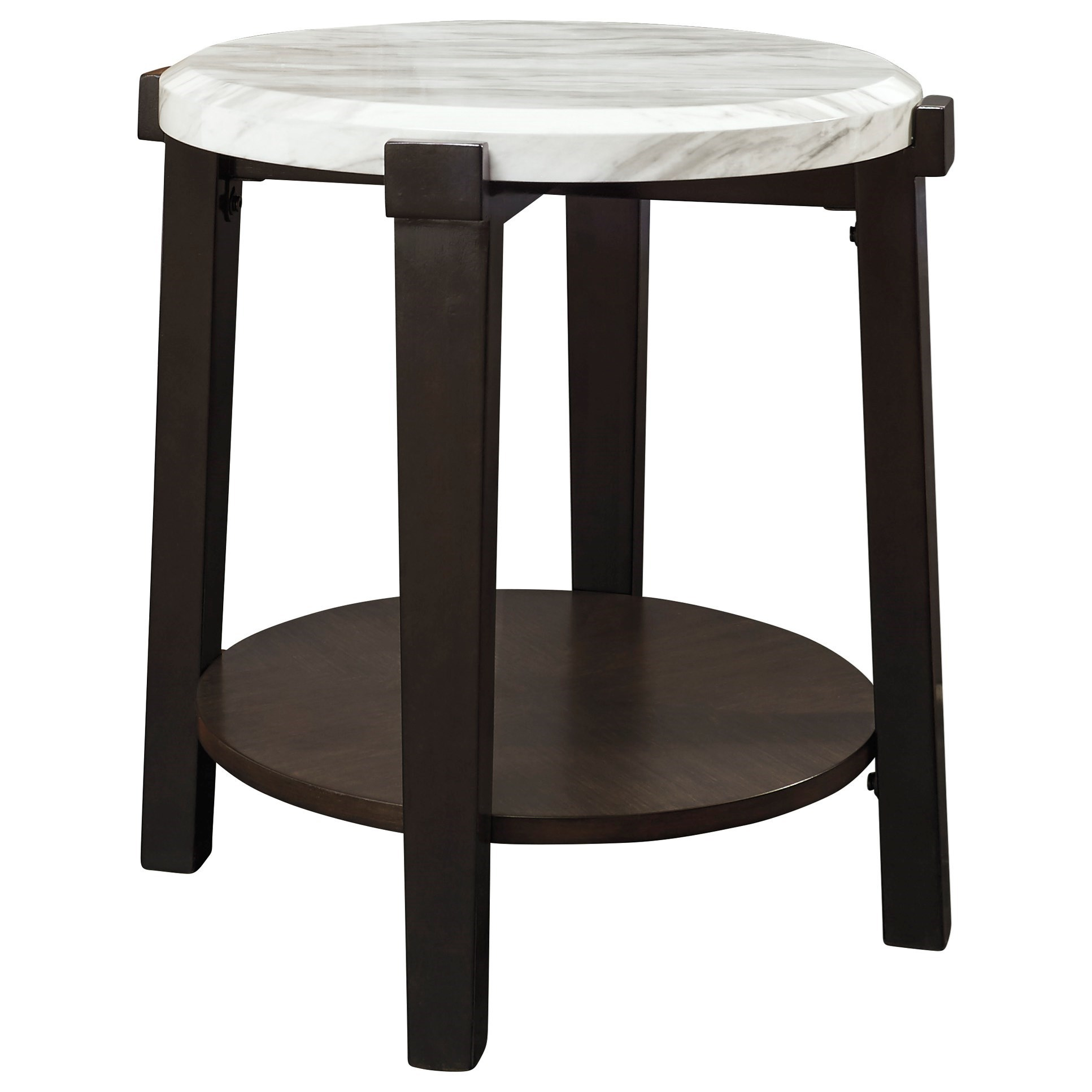 Janilly Round End Table by Signature Design by Ashley at Northeast Factory Direct