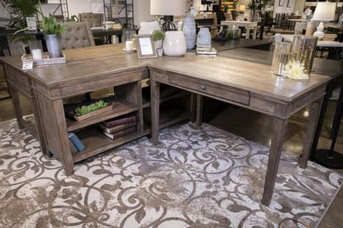 Janismore 2 Piece Home Office Set by Signature Design by Ashley at Sam Levitz Outlet