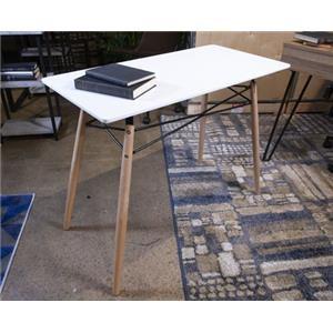 """White 36"""" Home Office Desk"""