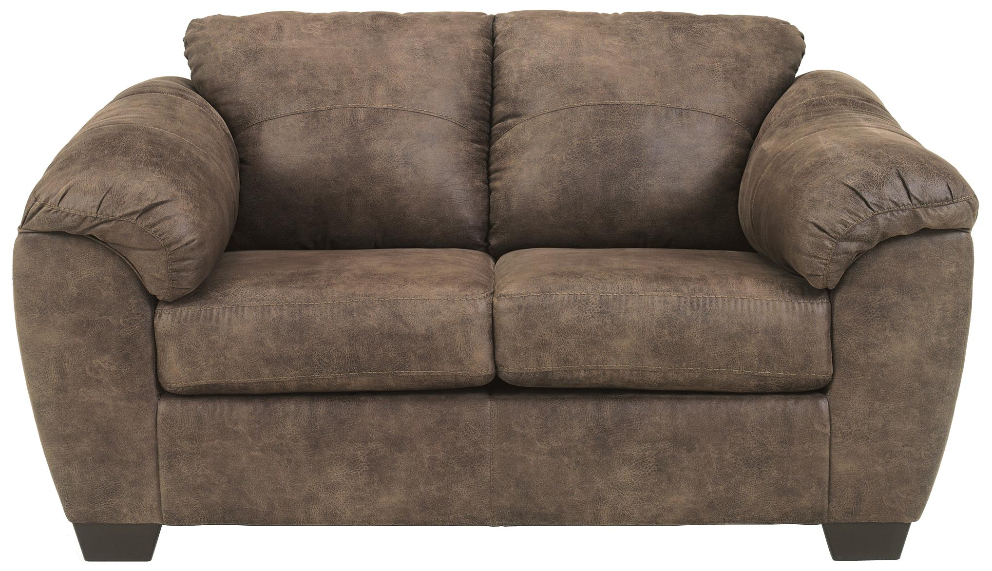 Jathan - Mocha Loveseat by Signature Design by Ashley at Turk Furniture
