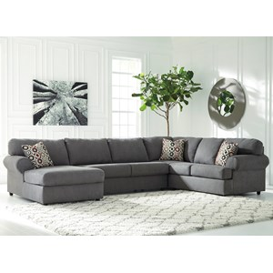 3-Piece Sectional with Left Chaise