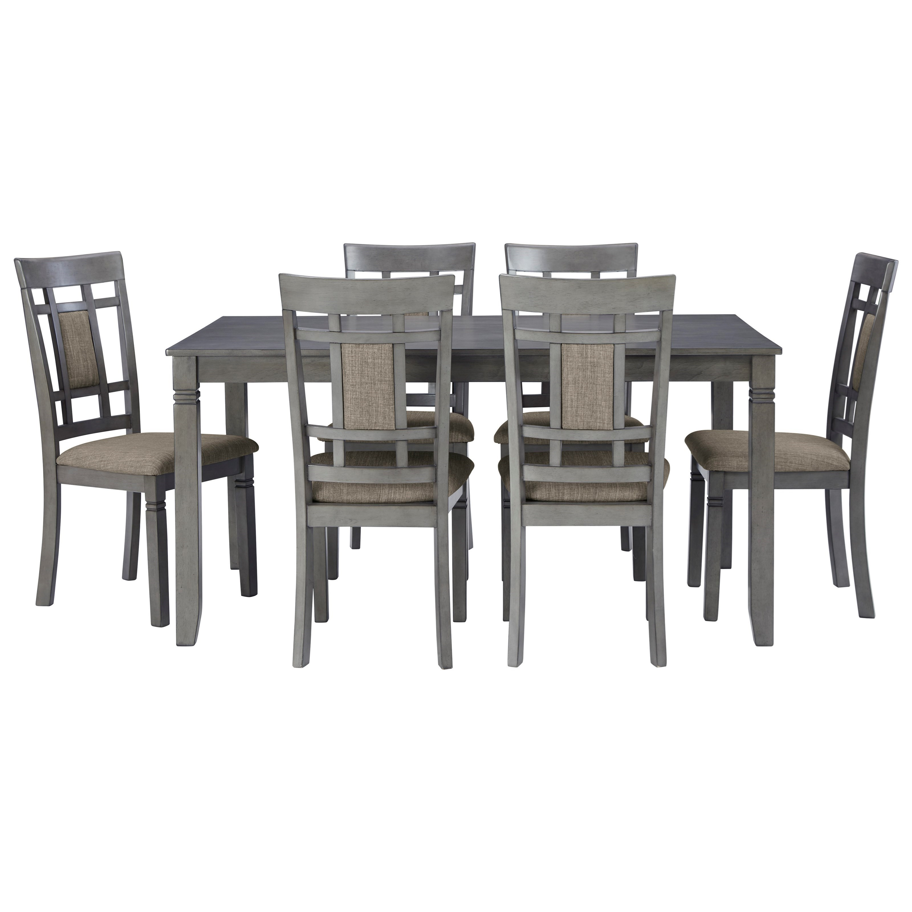 Jayemyer 7-Piece Dining Table and Chairs Set by Signature Design by Ashley at Suburban Furniture