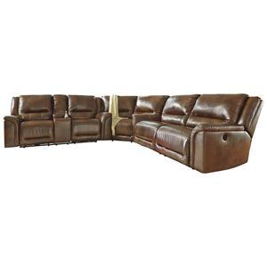 Signature Design by Ashley Jayron Power Reclining Sectional with Wedge