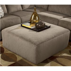 Casual and Contemporary Oversized Accent Ottoman