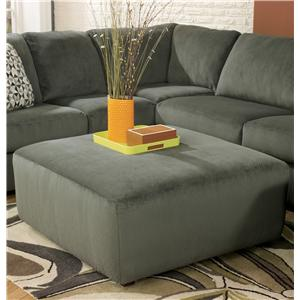 Signature Design by Ashley Jessa Place - Pewter Oversized Accent Ottoman