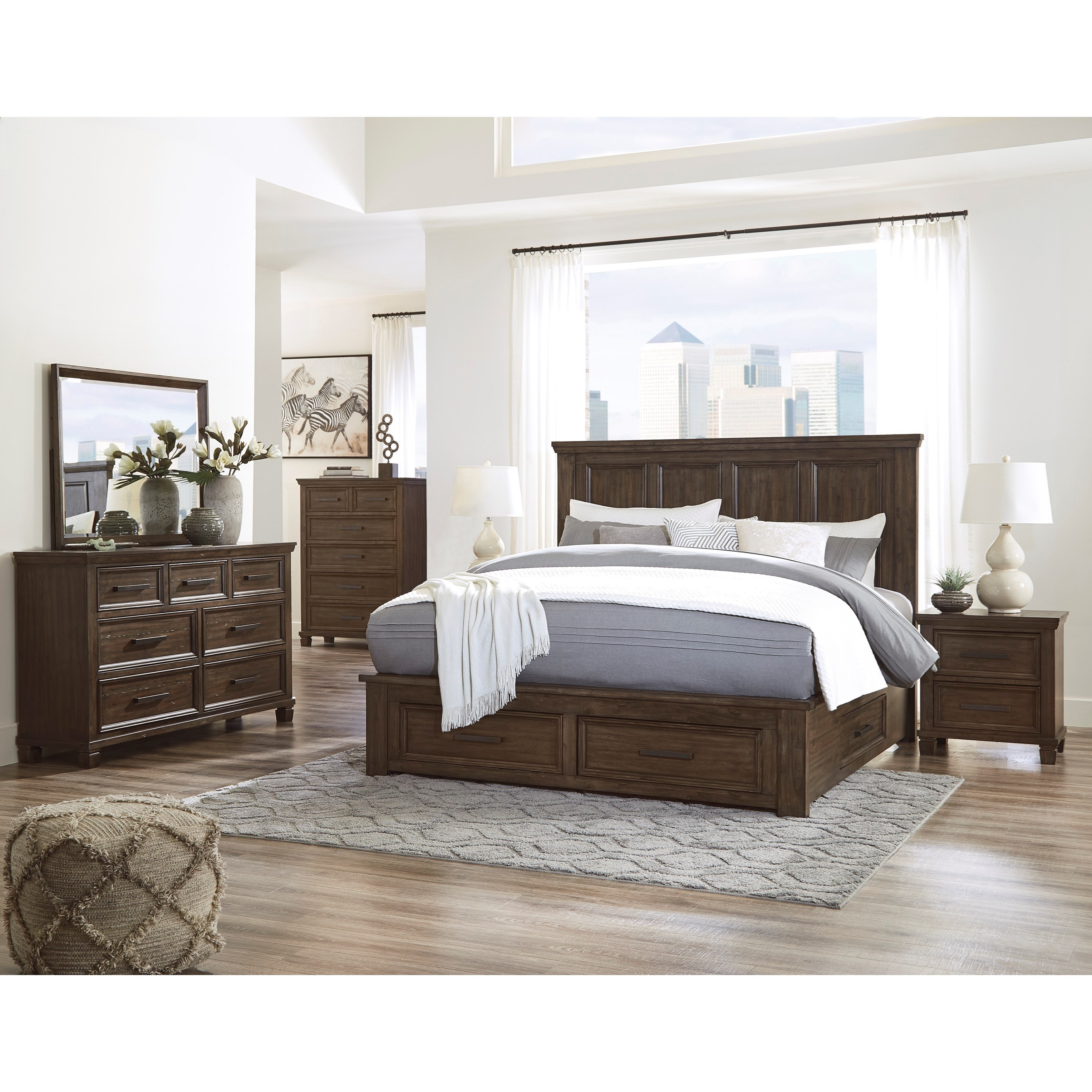 Johurst King Bedroom Group by Signature at Walker's Furniture