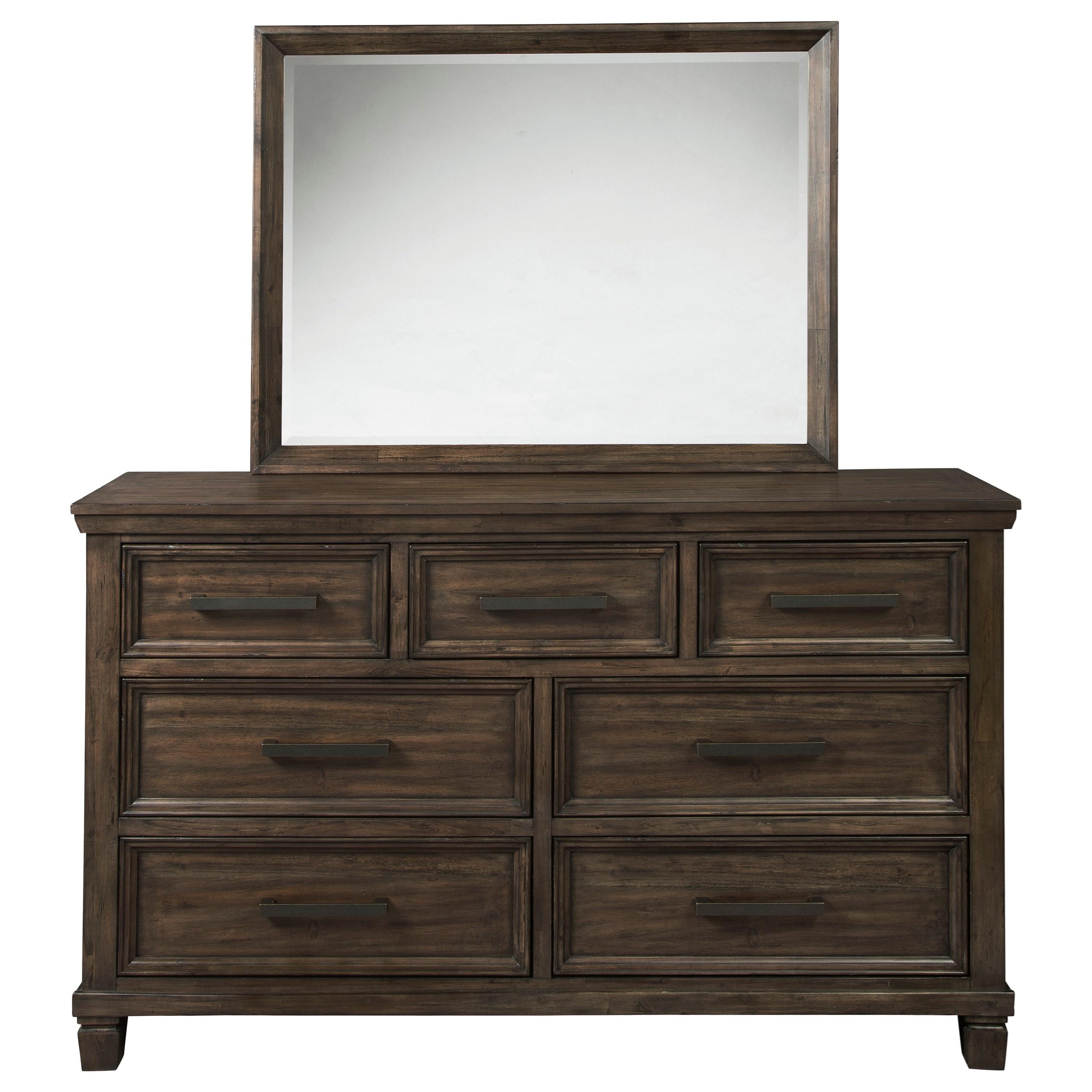 Johurst Dresser and Mirror Set by Signature at Walker's Furniture