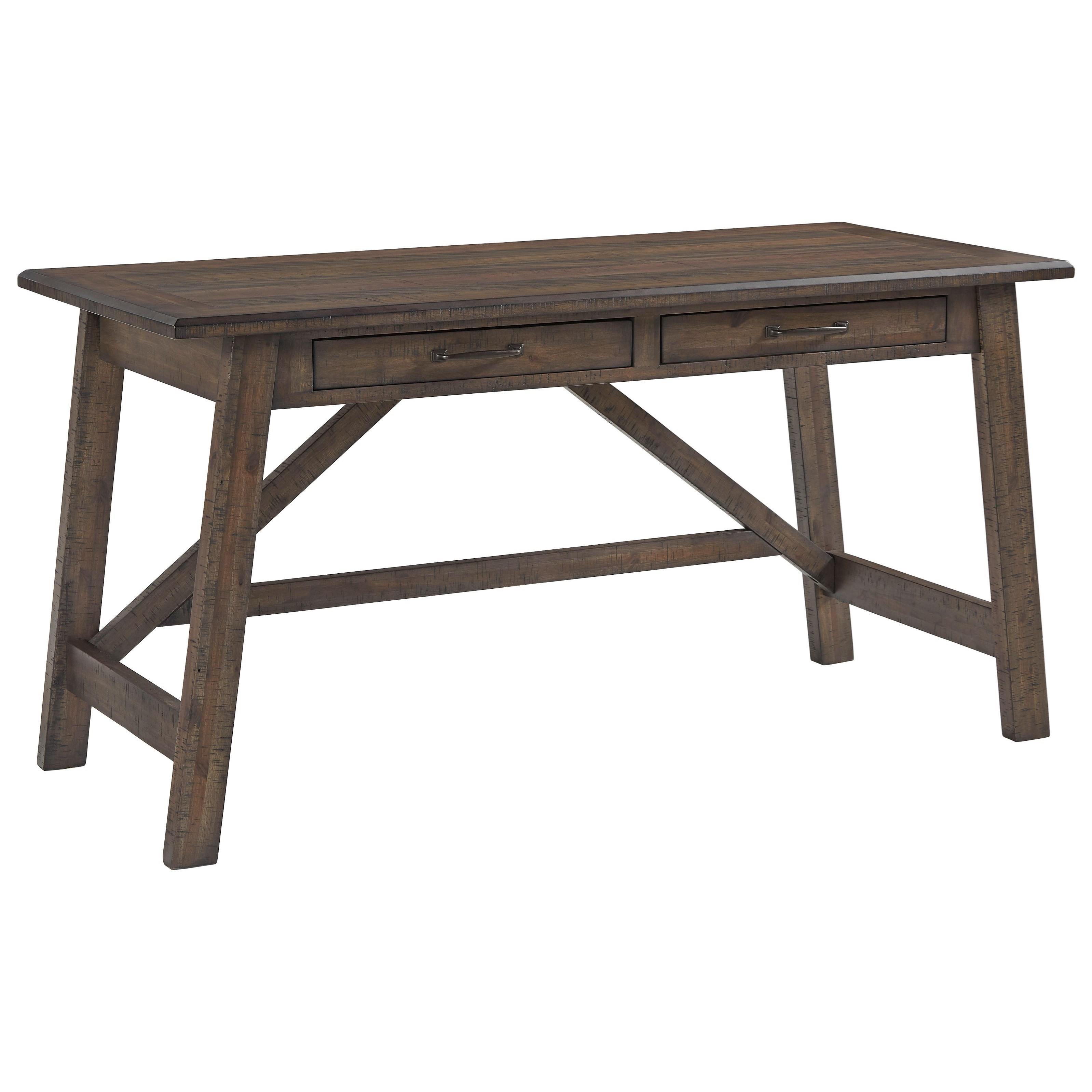 Johurst Home Office Large Leg Desk by Signature Design by Ashley at VanDrie Home Furnishings