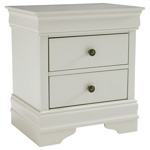 Traditional Two Drawer Night Stand