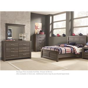 Full Bed, Dresser and Mirror