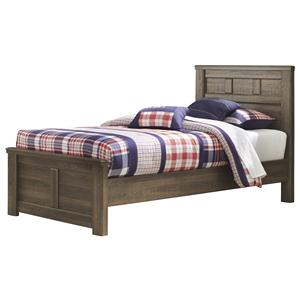 Transitional Twin Panel Bed