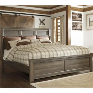 Transitional California King Panel Bed
