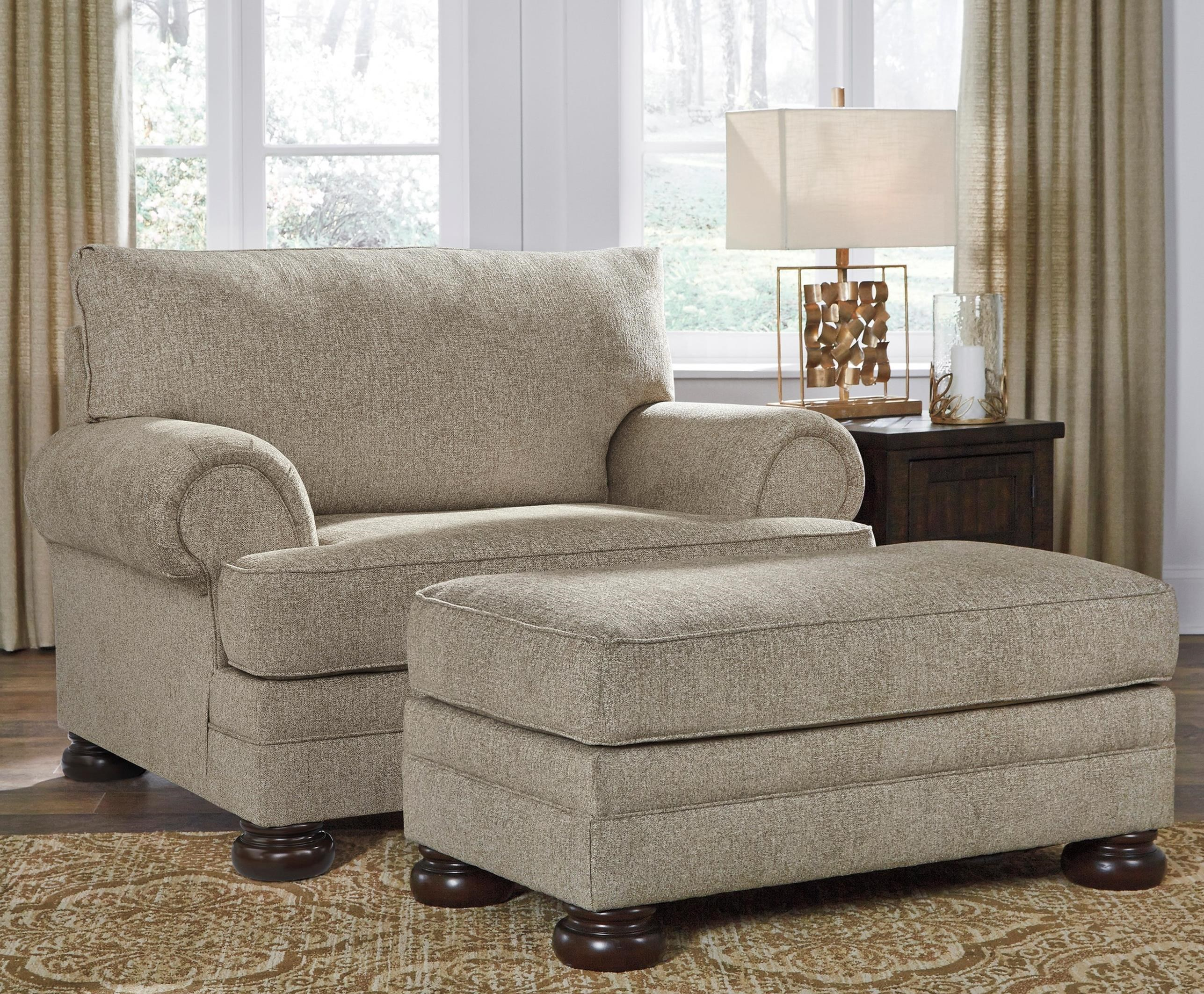 Kananwood Chair and a Half and Ottoman by Signature Design by Ashley at Catalog Outlet