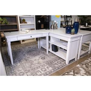 Home Office White Credenza