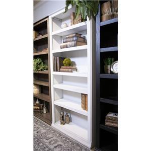 """75"""" White Bookcase"""