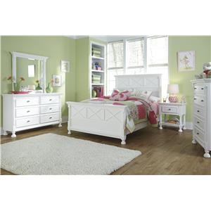 Full Panel Bed, Dresser, Mirror and Nightstand Package