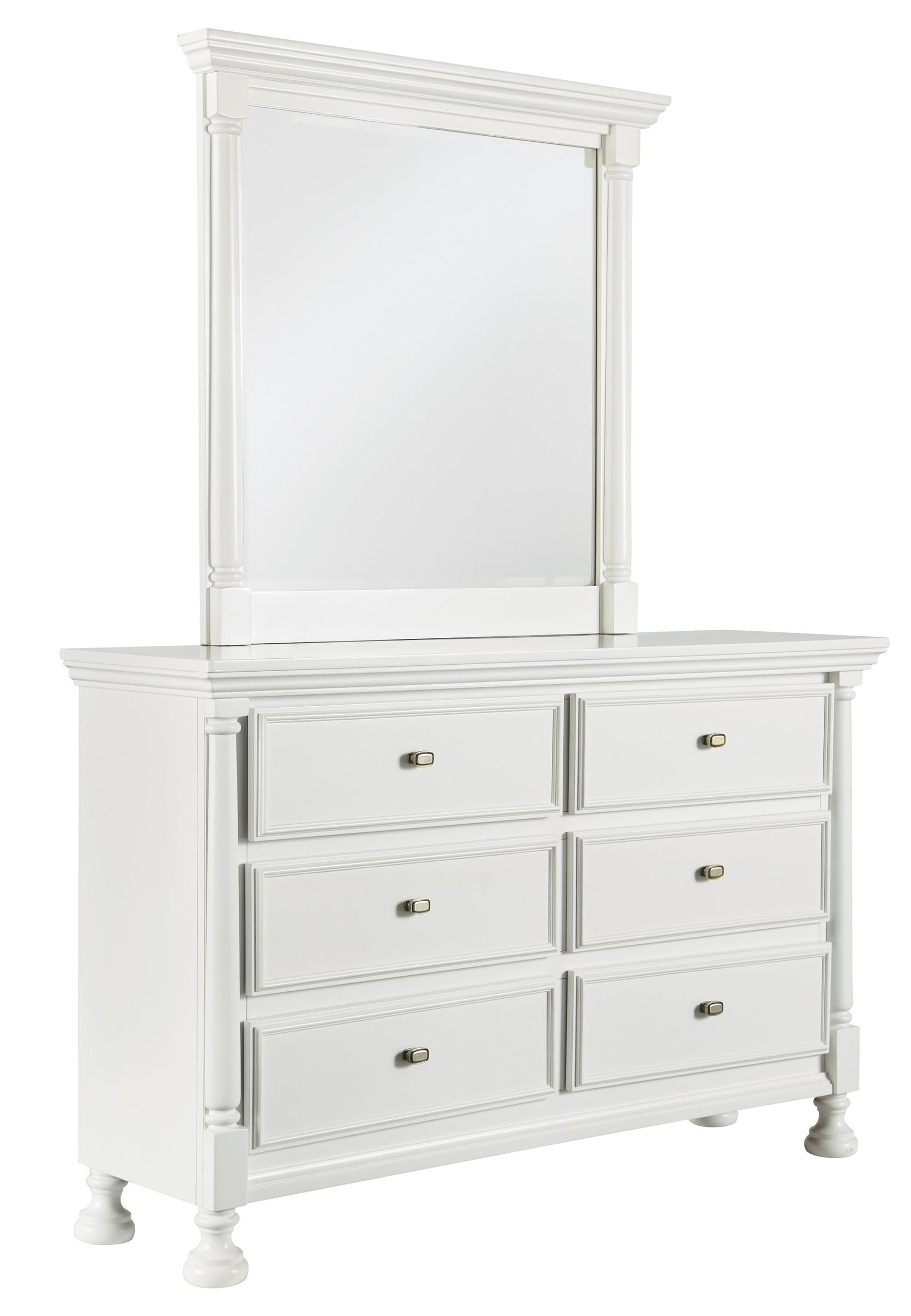 Kaslyn Dresser & Bedroom Mirror by Signature Design by Ashley at Suburban Furniture