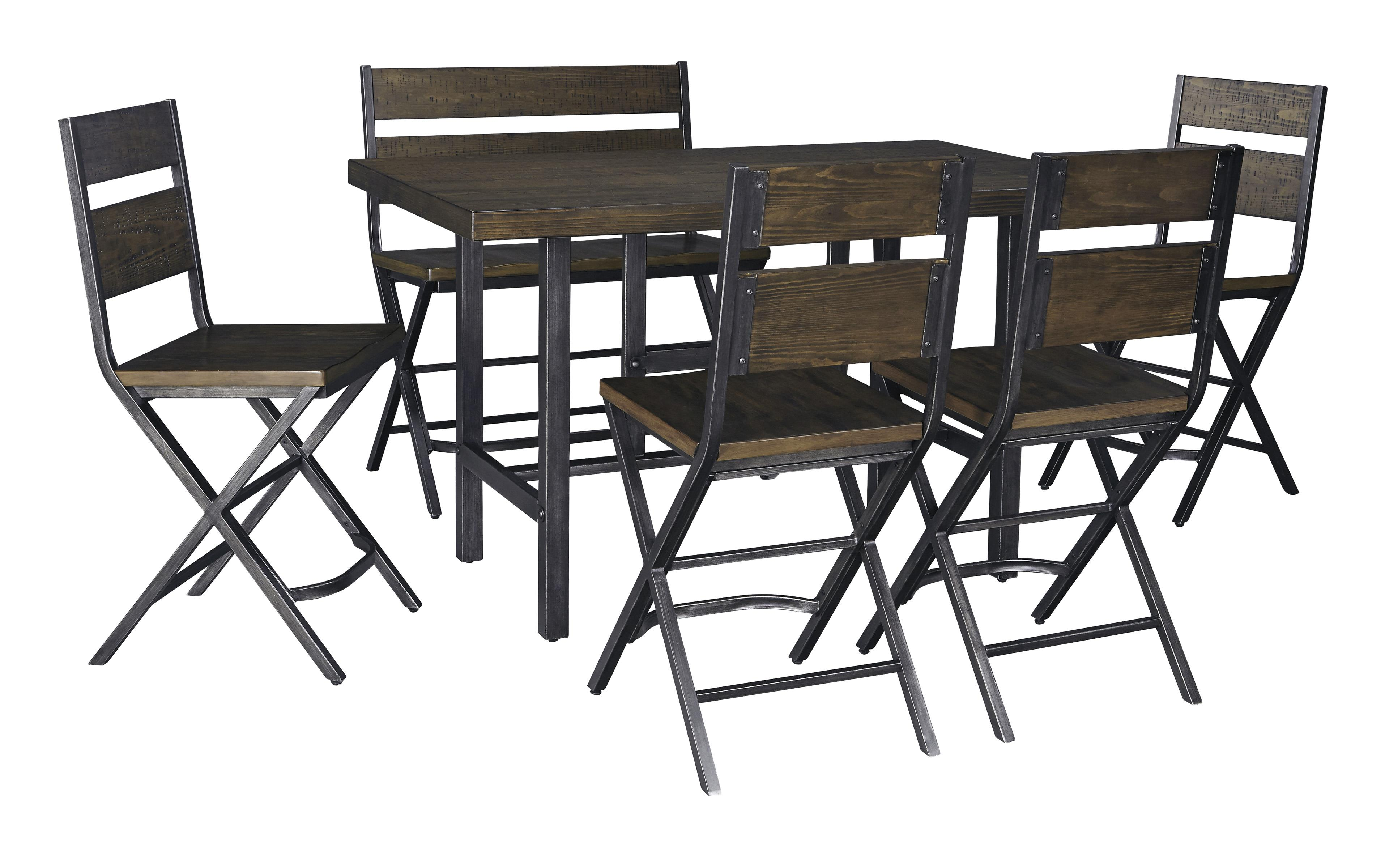 Kavara 6-Piece Counter Table & Double Bar Stool Set by Signature Design by Ashley at Northeast Factory Direct