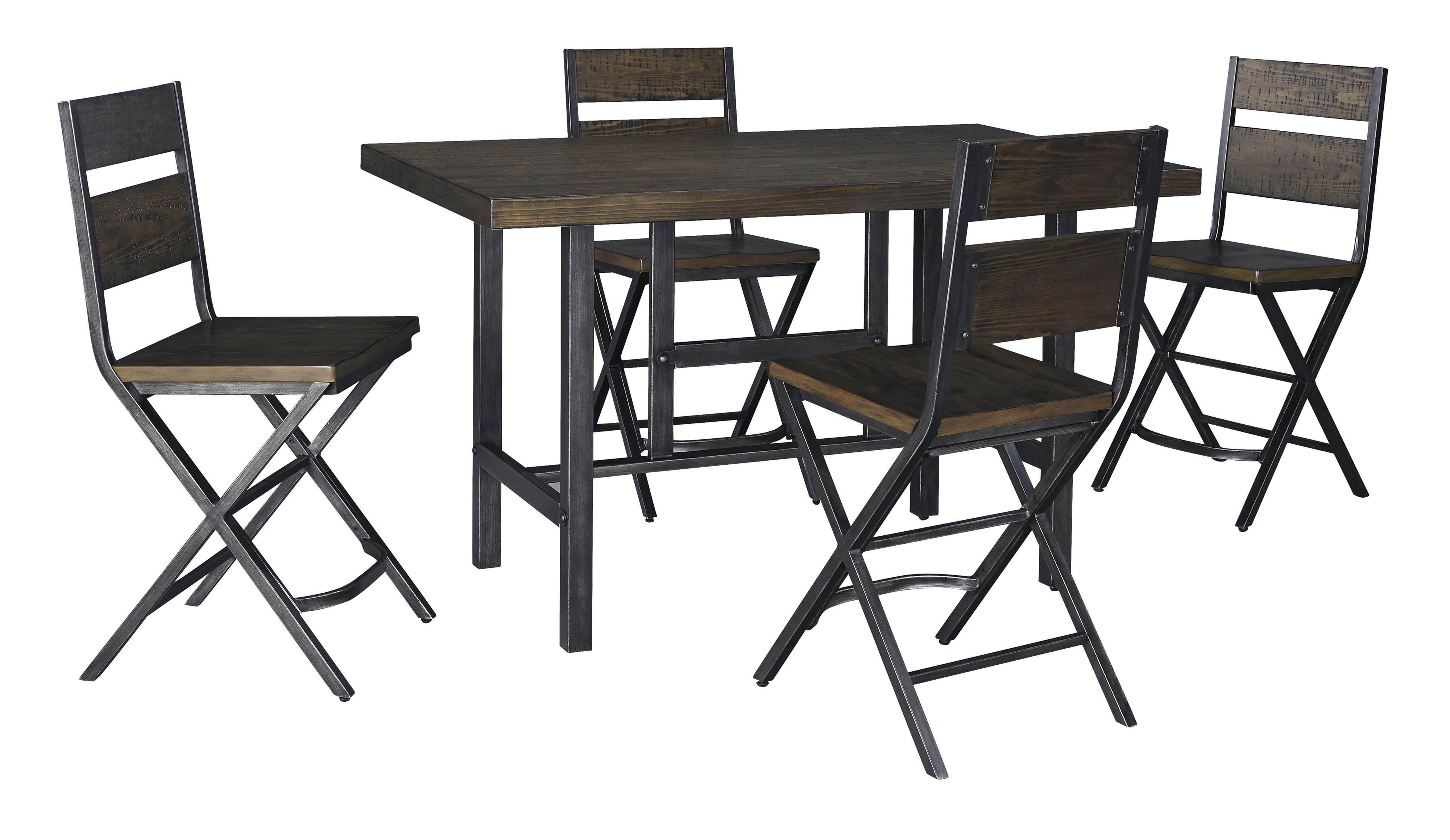 Kavara 5-Piece Counter Table & Bar Stool Set by Ashley (Signature Design) at Johnny Janosik