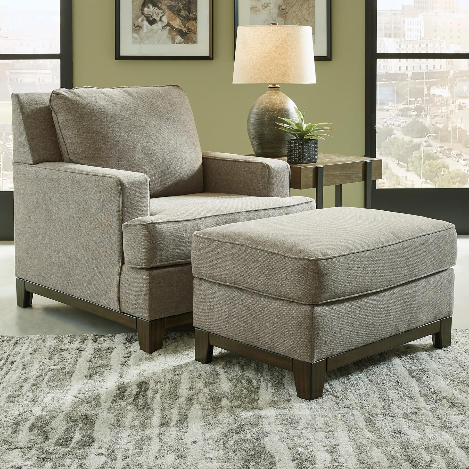 Kaywood Chair and Ottoman by Signature Design by Ashley at Northeast Factory Direct
