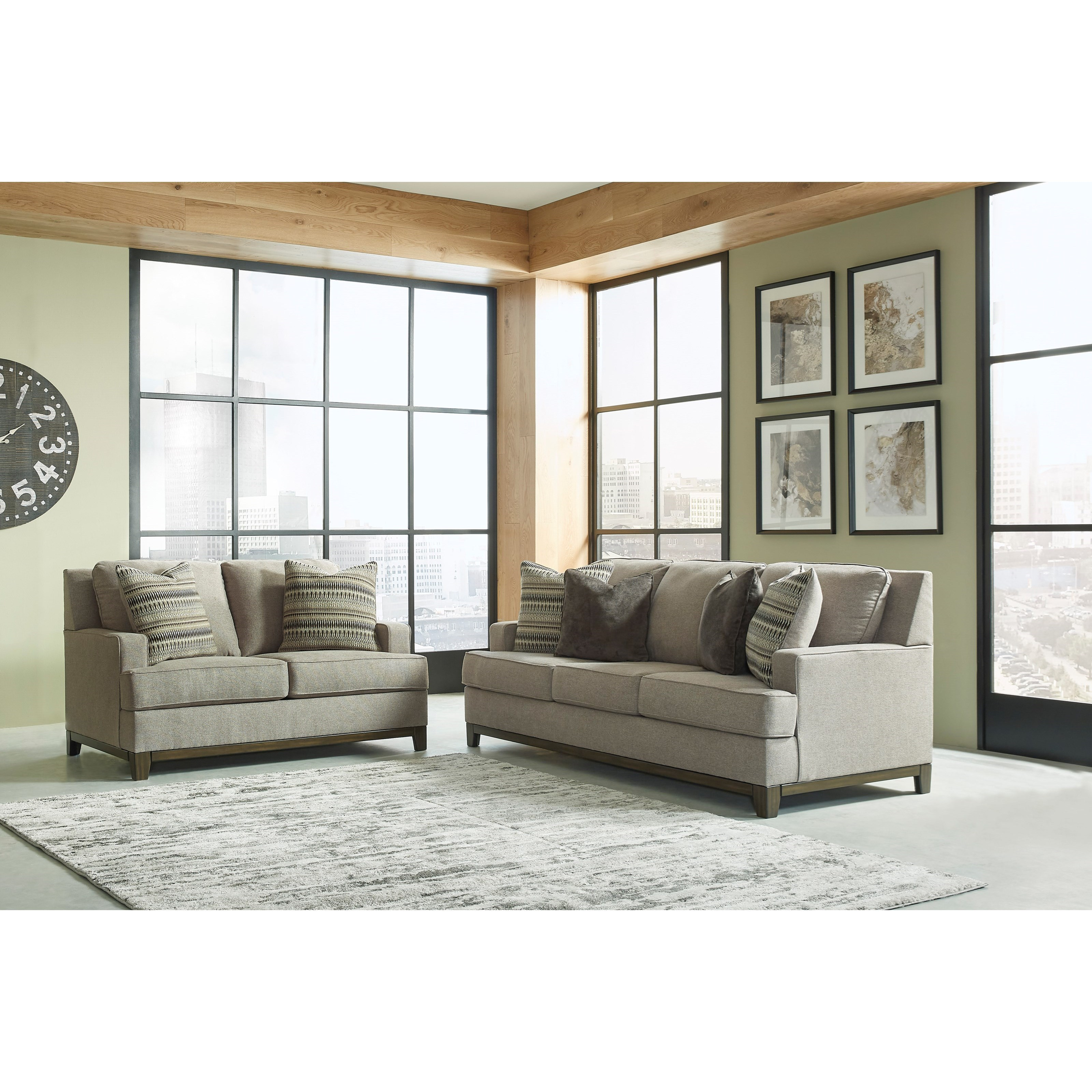Kaywood Sofa and Loveseat by Signature Design by Ashley at Suburban Furniture