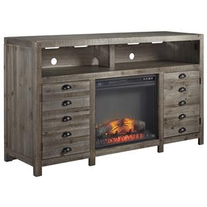 Signature Design by Ashley Keeblen TV Stand with Electric Fireplace Insert