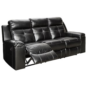 Contemporary Reclining High Back Sofa with LED Lighting