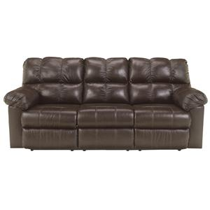 Signature Design by Ashley Kennard - Chocolate Reclining Sofa w/ Power