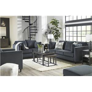 Shadow Sofa, Loveseat, Chair and Ottoman Set
