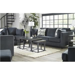 Shadow Sofa, Loveseat, Accent Chair and Ottoman Set