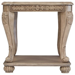 Traditional Square End Table
