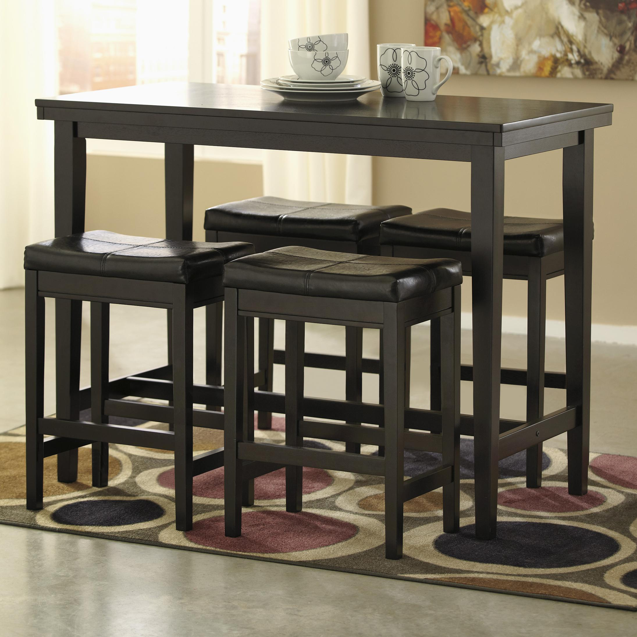 Kimonte 5-Piece Dining Set by Signature Design by Ashley at HomeWorld Furniture