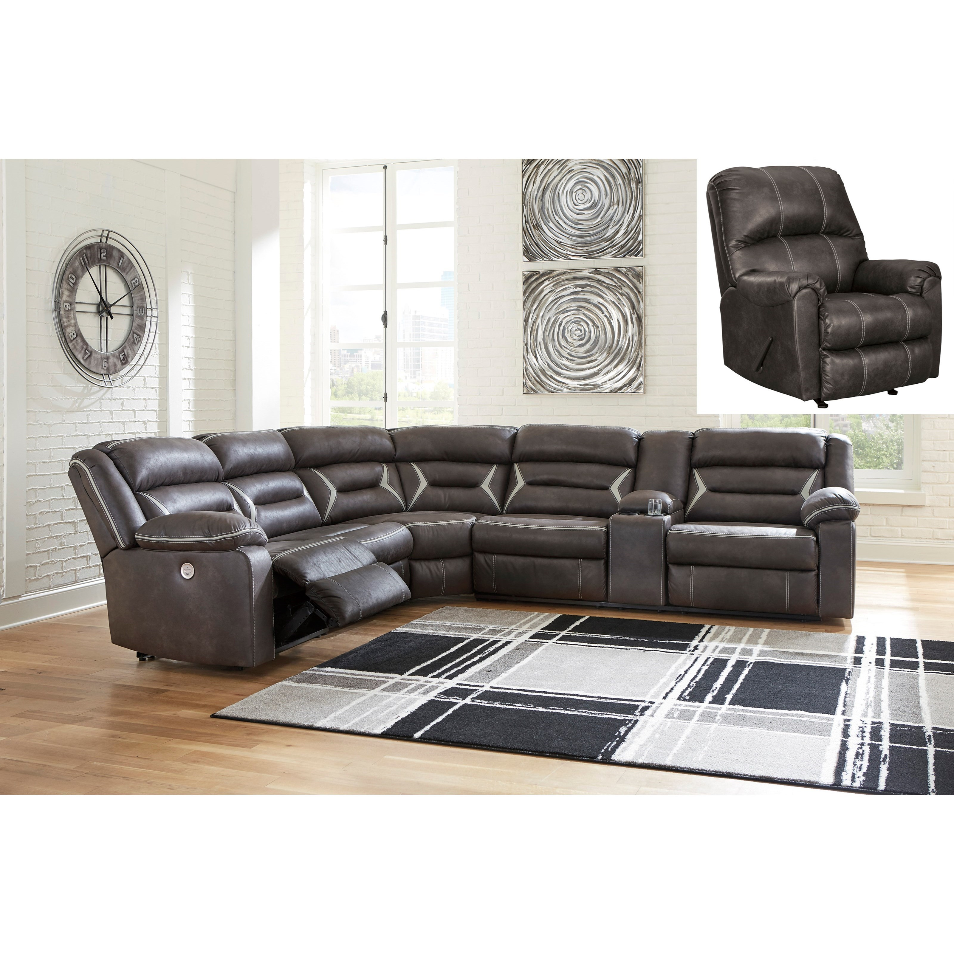 Kincord Power Reclining Living Room Group by Signature Design by Ashley at Northeast Factory Direct
