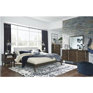 King Platform Bed, Dresser, Mirror, Nightstand and Chest Package