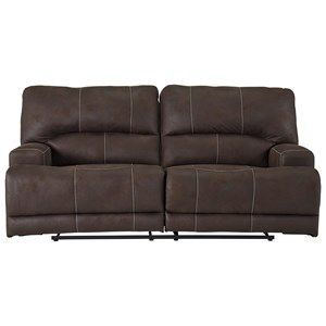 Power Reclining Sofa with Adjustable Headrests and USB Ports