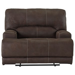 Wide Seat Power Recliner with USB Port