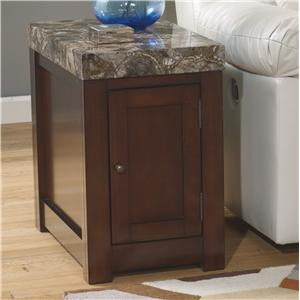 Chair Side End Table with Door