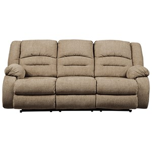 Power Reclining Sofa with Adjustable Headrest