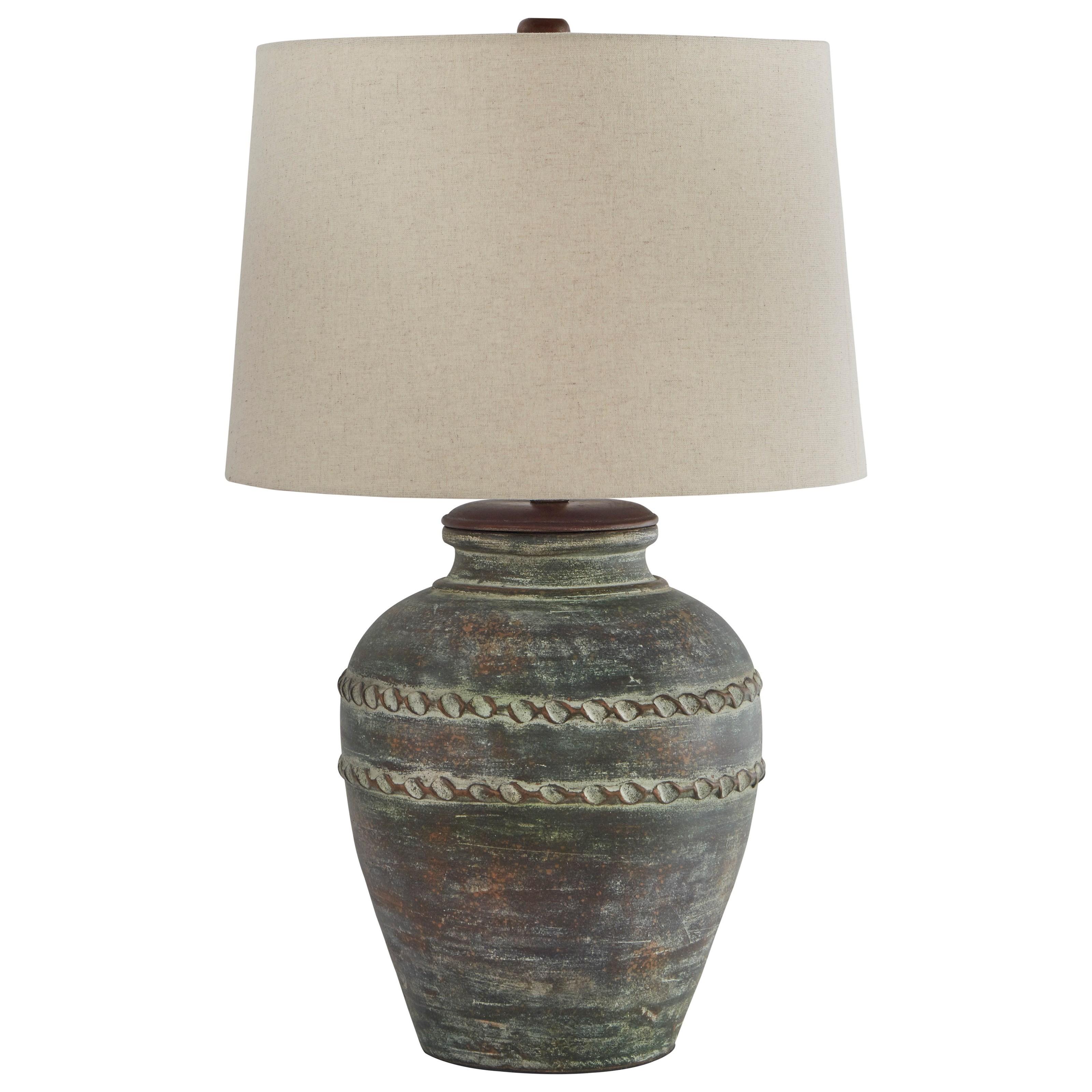 Mairead Green Terracotta Table Lamp