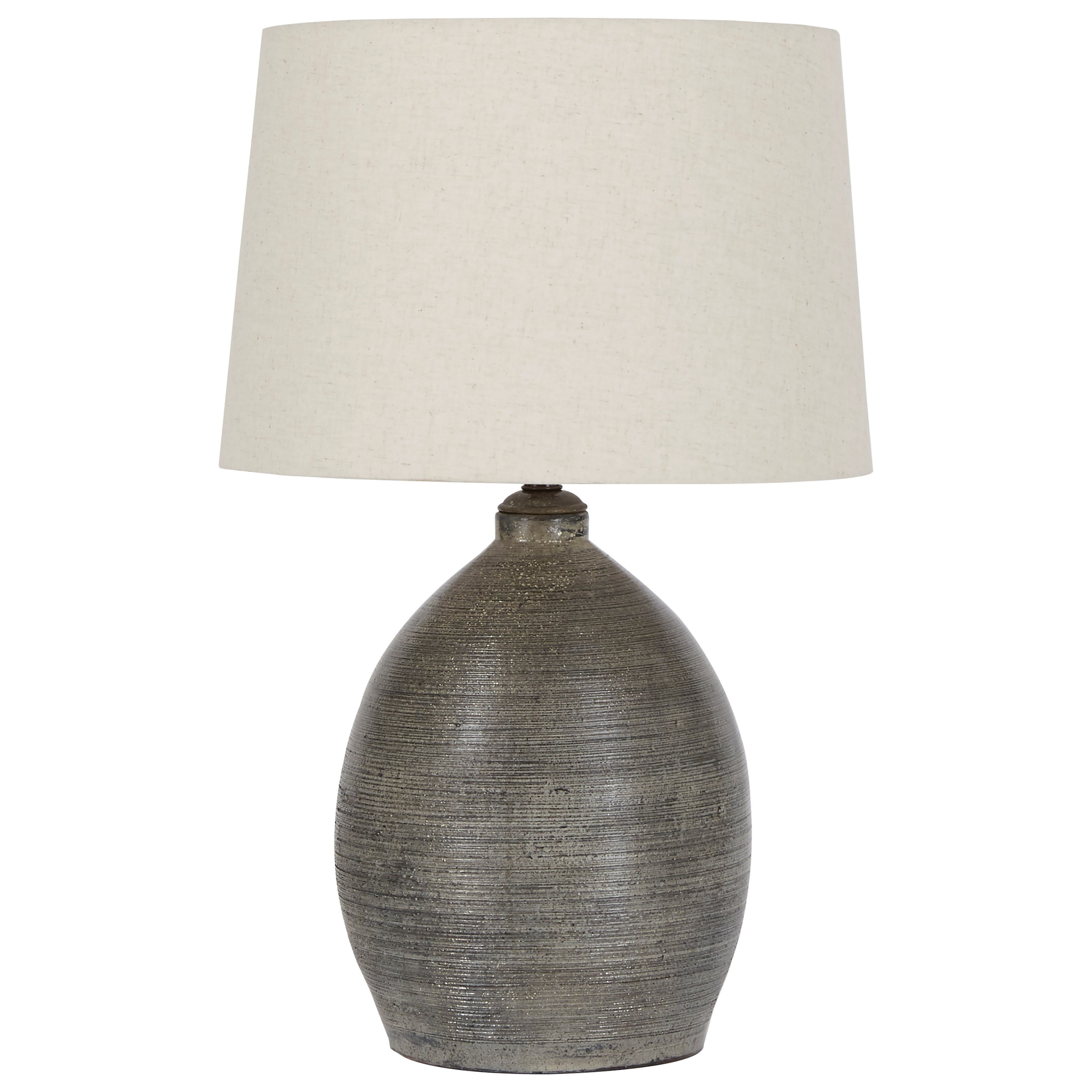Lamps - Casual Joyelle Gray Terracotta Table Lamp by Signature Design by Ashley at Northeast Factory Direct