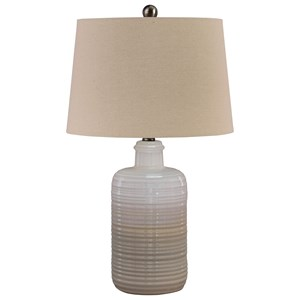 Set of 2 Marnina Taupe Ceramic Table Lamps