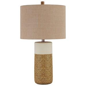 Set of 2 Evalyn Ochre Ceramic Table Lamps